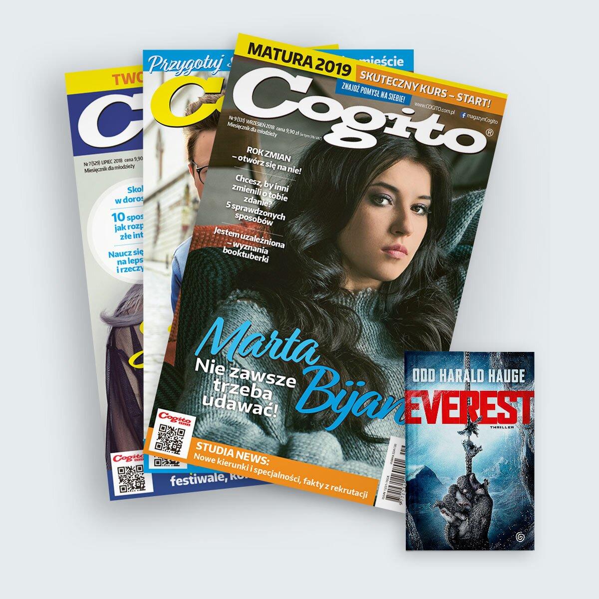 Cogito prenumerata roczna z książką w prezencie Everest