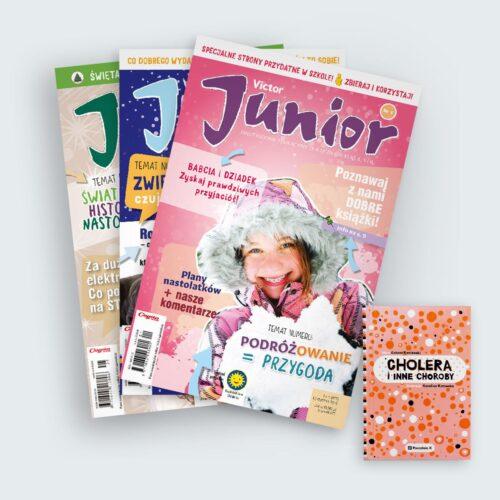 victor junior 2019 prenumerata roczna z książką cholera i inne choroby