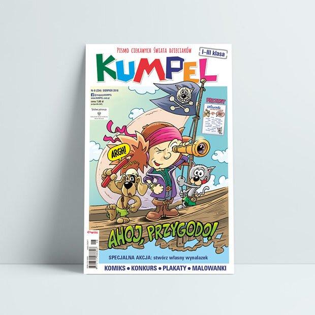 Kumpel sierpień 2018 czasopismo edukacyjne konkurs malowanki nudy w wakacje