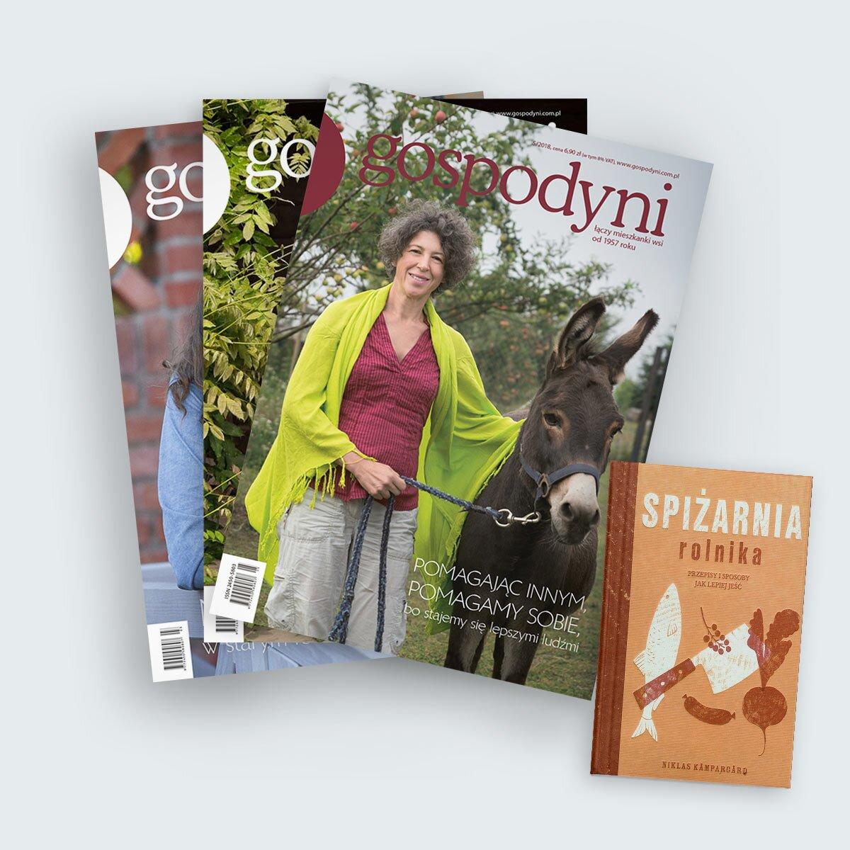 gospodyni prenumerata roczna z książką czasopismo dla mieszkanek wsi