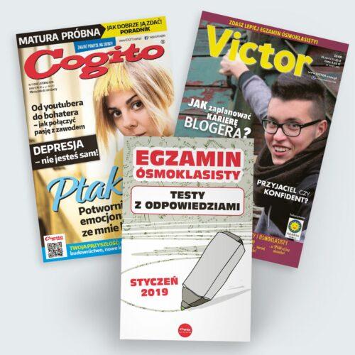 prenumerata pakietowa łączona Victor i Cogito 2018 2019 z wydaniem specjalnym egzamin ósmoklasisty za darmo
