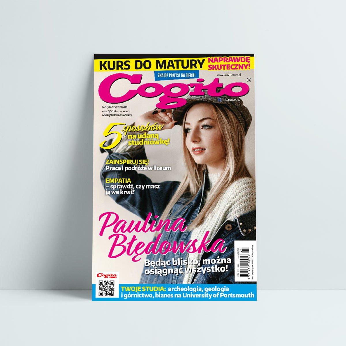 Cogito 1 2019 - czasopismo edukacyjne dla młodzieży - Sklep Cogito 4dc9fdd885e
