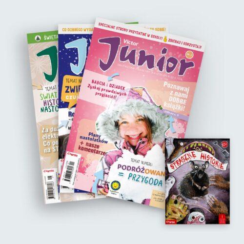victor junior 2019 prenumerata roczna z książką straszne historie w prezencie