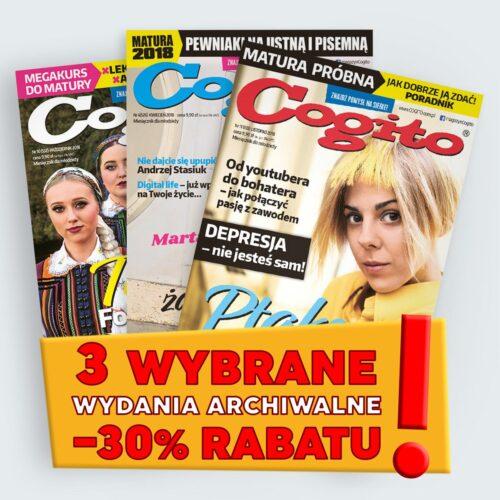 wydania archiwalne Cogito w promocyjnej cenie