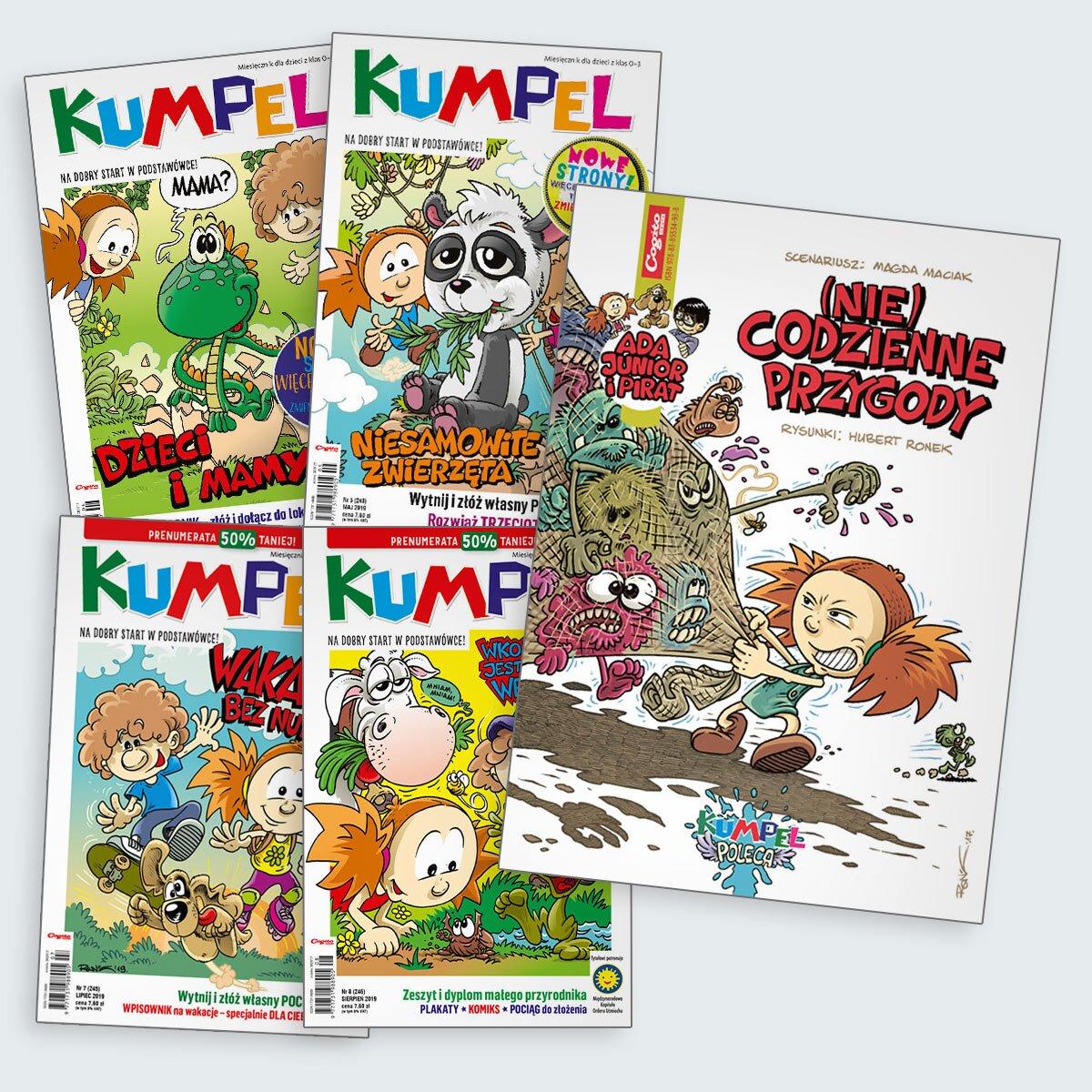 Kumpel prenumerata roczna 2019 z komiksem niecodzienne przygody